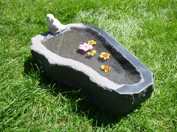 Vogeltränke aus Granit 40, Unikat
