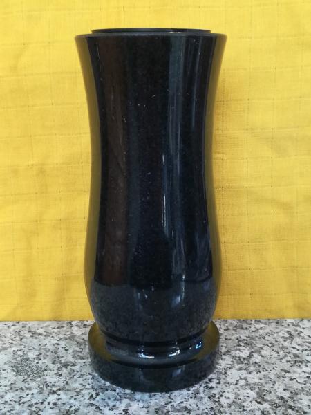 Naturstein Grabvase Nr. 2 / Indisch Black
