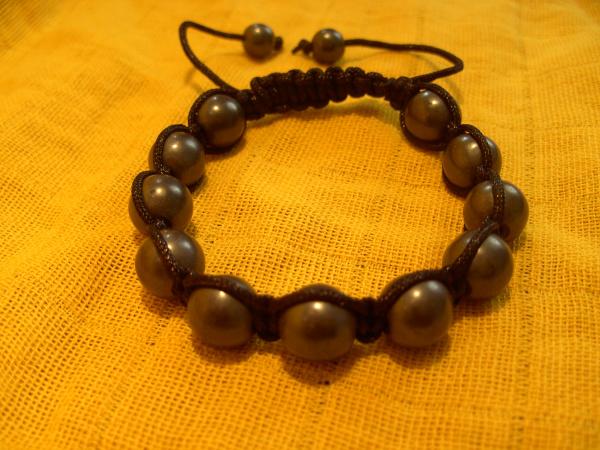 Shamballa Style Armband, Hämatit poliert