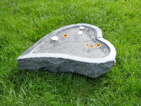 Vogeltränke aus Granit 43, Unikat