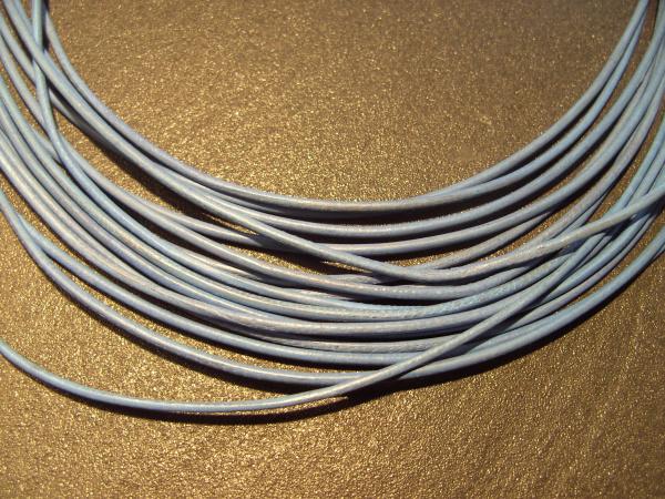 Lederband Ziege, ø 1,5 mm, L 1 m, hellblau