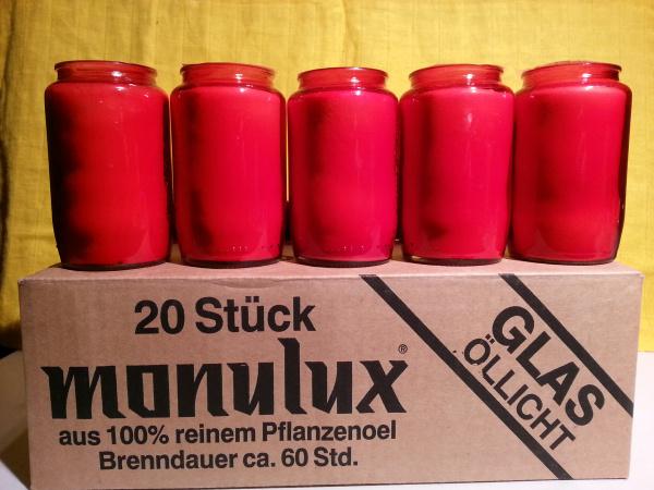 Monulux Glasöllicht 60 Stunden / rot