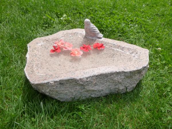 Vogeltränke aus Granit 30, Unikat