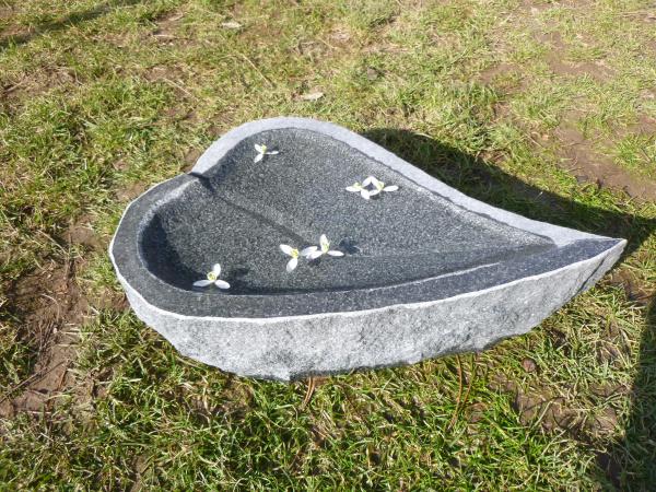 Vogeltränke aus Granit 15, Unikat