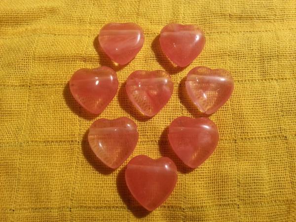 Herz Anhänger 20x20mm, Cherry Quarz