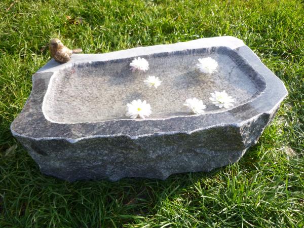 Vogeltränke aus Granit 49, Unikat