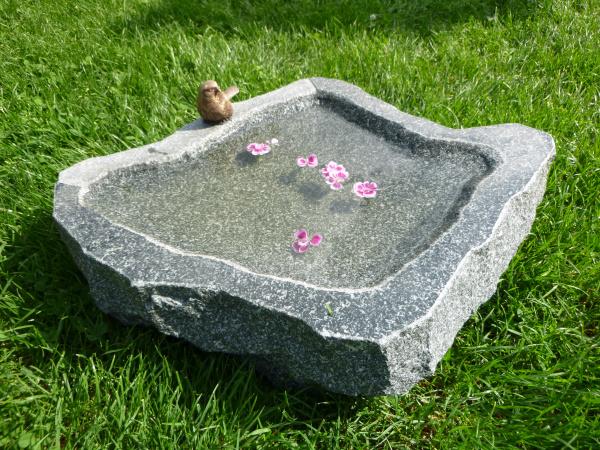 Vogeltränke aus Granit 34, Unikat