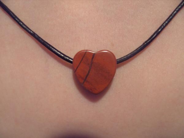 Edelstein Herz Anhänger, Jaspis rot