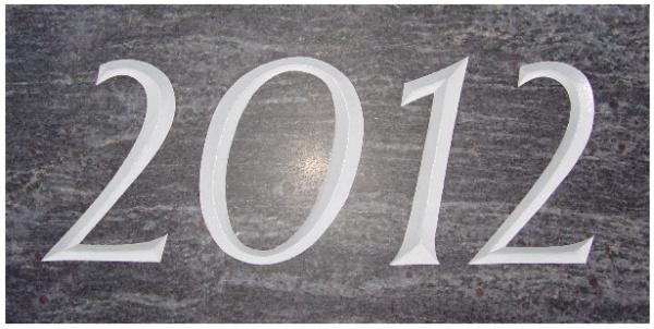 Jahreszahlplatte