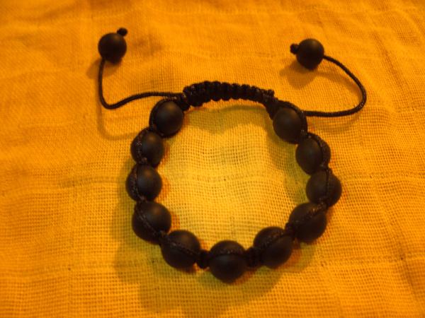 Shamballa Style Armband, Onyx matt