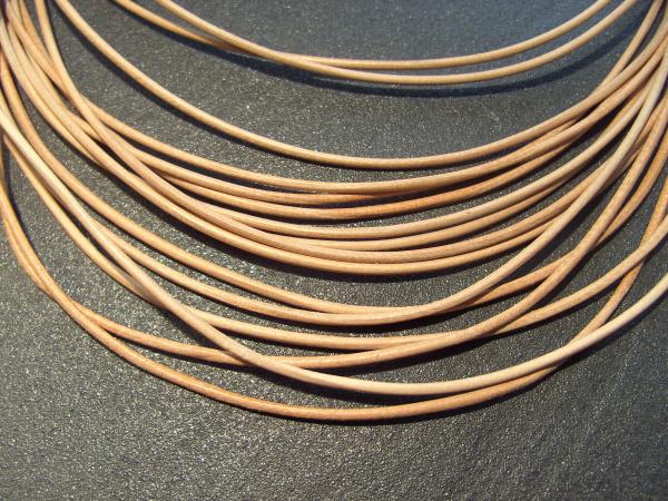 Lederband Ziege, ø 1,5 mm, L 1 m, natur
