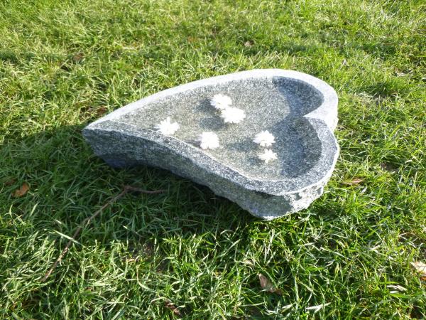 Vogeltränke aus Granit 58, Unikat